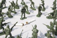 Guerra no fumo - controle Fotos de Stock