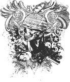 A guerra realiza-se ilustração do inferno Imagem de Stock