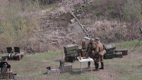 Guerra A segunda guerra mundial Versão da tela video estoque