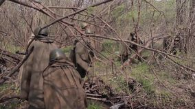 Guerra A segunda guerra mundial Versão da tela vídeos de arquivo