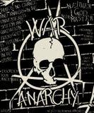 Guerra y cartel de la anarquía Imágenes de archivo libres de regalías