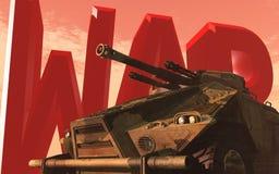 Guerra y el tanque Imagen de archivo libre de regalías