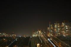 Guerras de las Galaxias en ciudades digitales Fotos de archivo