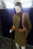 Guerras dos Balcãs históricas de Eyzones das forças armadas do grego uniformes Imagens de Stock