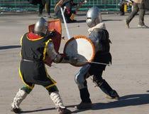 Guerras medievales Imagen de archivo libre de regalías