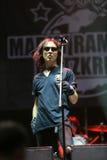 Guerre éclair de Marky Ramone s pendant un concert vivant Images stock