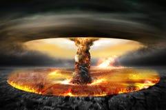 Guerre atomique nucléaire images stock