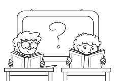 Guerre biologique d'écoliers illustration de vecteur