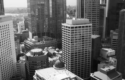 Guerre biologique de gratte-ciel de ville de Sydney photographie stock