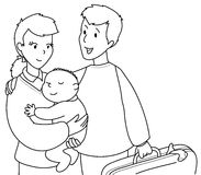 Guerre biologique mignonne de famille Photos libres de droits