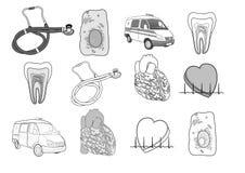 Guerre biologique réglée d'illustration de médecine Photos stock