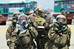 Guerre chimique et biologique images libres de droits