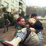 GUERRE CIVILE BOSNIENNE Photographie stock