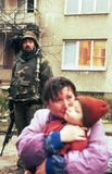 GUERRE CIVILE BOSNIENNE Photo libre de droits