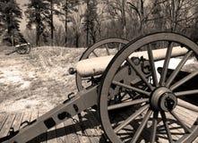Guerre civile Canon Photographie stock libre de droits