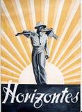 Guerre civile espagnole Couverture des horizons de magazine de Francoist image libre de droits