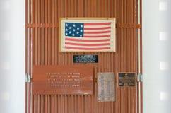 Guerre commémorative en gros plan de vétérans de panneau fermé de signe Photos libres de droits