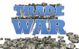 Guerre commerciale - politique économique Illustration de Vecteur
