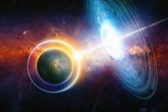 Guerre dans l'espace lointain Photo stock