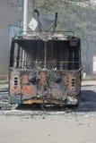 Guerre dans la ville Kramators'k de l'Ukraine images stock