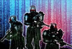 Guerre de Cyber Images stock