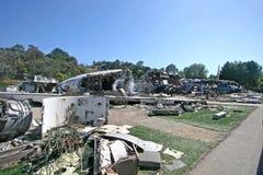Guerre de l'accident d'avion des mondes Photos stock