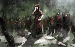 Guerre de l'hiver illustration libre de droits