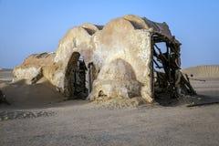 Guerre di stella del cinema nel deserto del Sahara Fotografie Stock