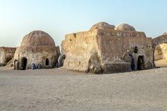 Guerre di stella del cinema nel deserto del Sahara Immagini Stock