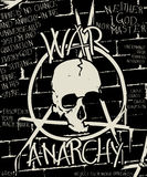 Guerre et affiche d'anarchie Images libres de droits
