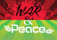 Guerre et paix Photographie stock