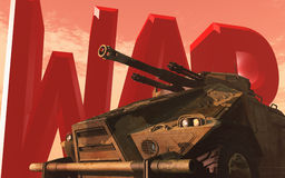 Guerre et réservoir Image libre de droits