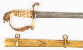 Guerre fédérale américaine de période de l'épée 1812 tête d'Eagle Images stock
