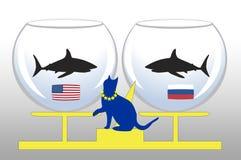 Guerre froide illustration libre de droits