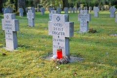 Guerre militaire de l'Allemagne deuxièmes de cimetière Image libre de droits