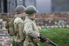 Guerre mondiale américaine d'armée 2 G I soldats Images stock