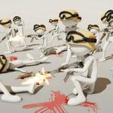 Guerre, rendu 3d illustration stock