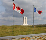 guerre vimy d'arête commémorative canadienne de la France Photographie stock
