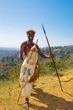 Guerreiro africano do tribo Zulu fotos de stock royalty free