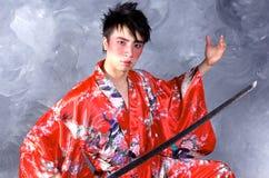 Guerreiro asiático Fotografia de Stock Royalty Free