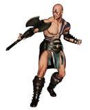 Guerreiro bárbaro com machado Foto de Stock