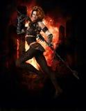 Guerreiro com espada ilustração stock