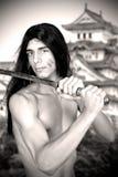 Guerreiro com katana Foto de Stock