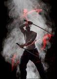 Guerreiro com seu Katana Imagens de Stock Royalty Free