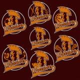 Guerreiro como o emblema de equipes de esportes Imagem de Stock