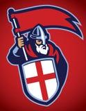 Guerreiro da Idade Média no estilo do time do colégio do esporte Imagem de Stock Royalty Free