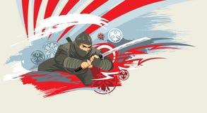 Guerreiro de Japão Fotografia de Stock Royalty Free