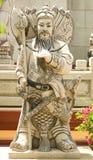 Guerreiro de pedra chinês Fotos de Stock