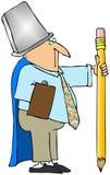 Guerreiro do escritório ilustração do vetor