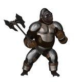 Guerreiro do macaco ilustração royalty free